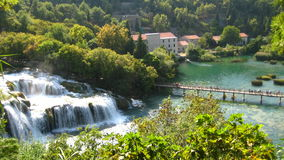 Beautiful landscape in the lakes of Plitvice National Park   Croatia / Europe Royalty Free Stock Images