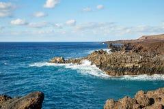 Beautiful landscape of Lanzarote Island Stock Photos