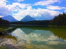 Beautiful Landscape, Leach Lake. Summer on  Leach Lake,  Jasper National Park Royalty Free Stock Images