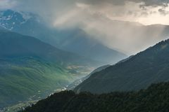 Landscape with majestic mountains Royalty Free Stock Photo