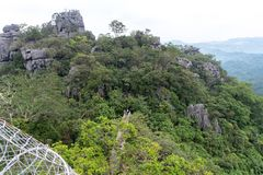 Beautiful landscape at Masungi Georeserve, Rizal. Philippines royalty free stock image