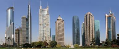Beautiful landscape of modern city stock photo