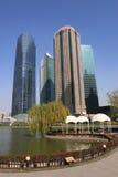 Beautiful landscape of modern city royalty free stock photos