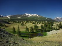 Beautiful landscape of Mongolia. Altay, trekking, hiking Royalty Free Stock Photos