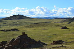 The beautiful landscape of Mongolia. Landscape of middle part of Mongolia Royalty Free Stock Images
