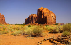 Beautiful landscape in Monument valley Royalty Free Stock Photo