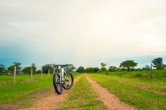 Beautiful landscape with Mountain biking on single track Stock Image