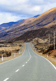 Beautiful landscape of mountain highways in south island new zea Stock Photography
