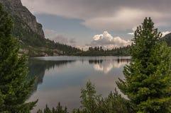 Beautiful landscape of mountain lake. High Tatras. Slovakia Royalty Free Stock Photography