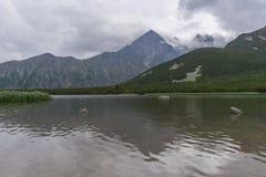 Beautiful landscape of mountain lake. Tatry. Slovakia.  stock photos