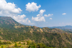 Beautiful landscape on mountain with nice sky Stock Images