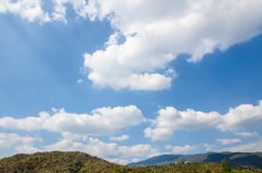 Beautiful landscape on mountain with nice sky Royalty Free Stock Photography