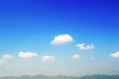 Beautiful landscape on mountain with nice sky. Background royalty free stock image
