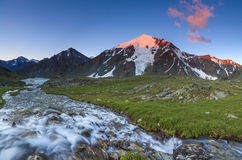 Beautiful landscape with mountain river Royalty Free Stock Images