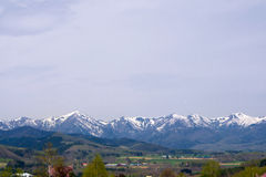 Beautiful landscape mountain and snow  Panorama Royalty Free Stock Photography