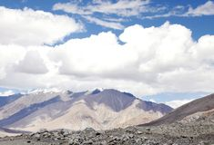 Beautiful landscape with Mountain, valley and sky in Ladakh Royalty Free Stock Photos