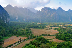 The beautiful landscape. Vang Vieng. Laos. Stock Image