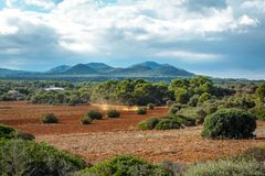 Beautiful landscape mountain view mediterranean spain Royalty Free Stock Image