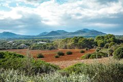 Beautiful landscape mountain view mediterranean spain Royalty Free Stock Photos