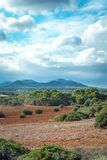Beautiful landscape mountain view mediterranean spain Royalty Free Stock Photography