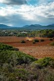 Beautiful landscape mountain view mediterranean Royalty Free Stock Photo