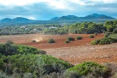 Beautiful landscape mountain view mediterranean. Spain summer Stock Photography