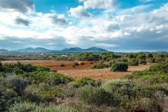 Beautiful landscape mountain view mediterranean Stock Photography