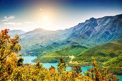 Beautiful landscape in the mountains Royalty Free Stock Photo