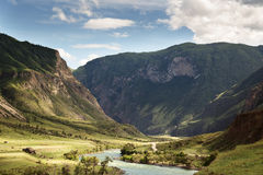 Beautiful Landscape. Mountains And Green Valley Stock Images