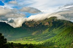 Beautiful landscape of the mountains in La Palma stock images