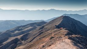 Beautiful landscape in the mountains. Lovely view of the Taurus Mountains from the top of mount Tahtali. stock photos