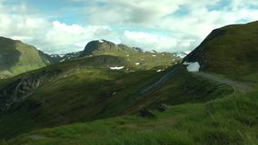 Beautiful landscape with mountains,rocks and sky. Norway stock video footage
