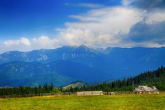 Beautiful  landscape in the mountains. Romania Royalty Free Stock Photos