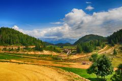 Beautiful  landscape in the mountains. Romania Stock Photos