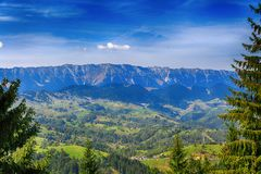 Beautiful  landscape in the mountains. Romania Stock Images