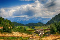 Beautiful  landscape in the mountains. Romania Royalty Free Stock Images