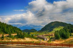 Beautiful  landscape in the mountains. Romania Stock Image