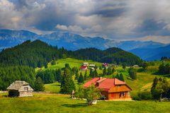 Beautiful landscape in the mountains. Romania. Beautiful summer landscape in the mountains. Romania royalty free stock images