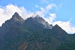 Beautiful landscape in mountains. Sky, clouds, mountains Stock Images