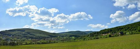 Beautiful landscape in the mountains in summer. Czech Republic - the White Carpathians - Europe. Stock Image
