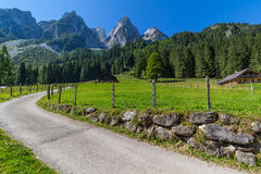 Beautiful landscape of mountains on summertime in Austria, Europe Royalty Free Stock Image
