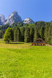 Beautiful landscape of mountains on summertime in Austria, Europe Royalty Free Stock Photos