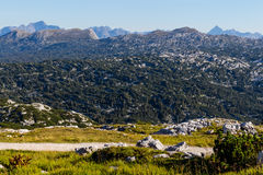 Beautiful landscape of mountains on summertime in Austria, Europe Stock Images