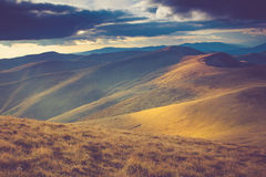 Beautiful landscape in the mountains. Beautiful landscape in the mountains at sunshine Stock Photo