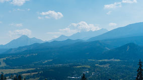 Beautiful Landscape of Mountains, View at Zakopane. From the top of Gubalowka, Tatra Mountains in Poland Stock Photo