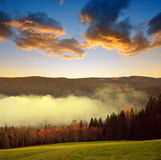 Beautiful landscape in the National park Sumava Royalty Free Stock Image