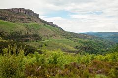 Beautiful landscape of natural reserve park in Cevennes, France Royalty Free Stock Photos