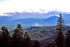 Beautiful landscape of nature in mountainous terrain. Carpathian Royalty Free Stock Photography