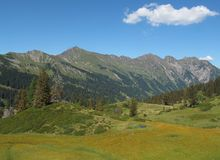 Beautiful landscape near Gstaad Royalty Free Stock Image