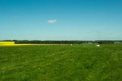 The path to Stonehenge - beautiful landscape Royalty Free Stock Image